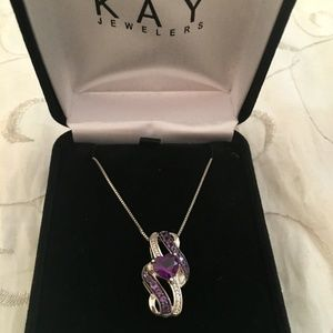 Kay Jewelers Jewelry - Sterling Silver Amethyst Heart Necklace